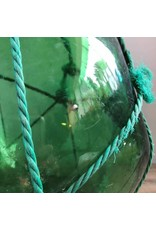 "Glass float - green, 10.5 "", with netting"