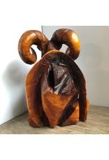 Ram - carved cedar