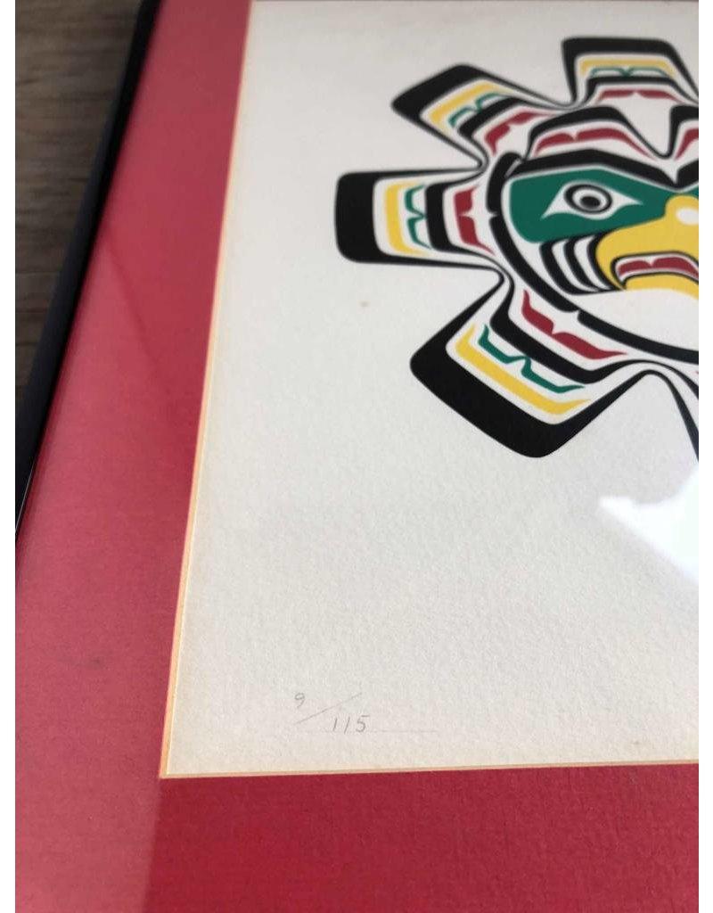 Framed limited edition print - Harold Alfred, Kwakiutl, 9/115, 1979