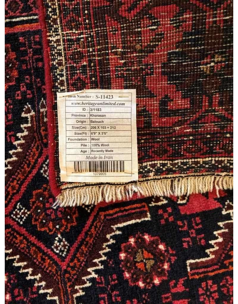 "Carpet - new  Balousch, made in Iran, 6'11"" x 3'5"""