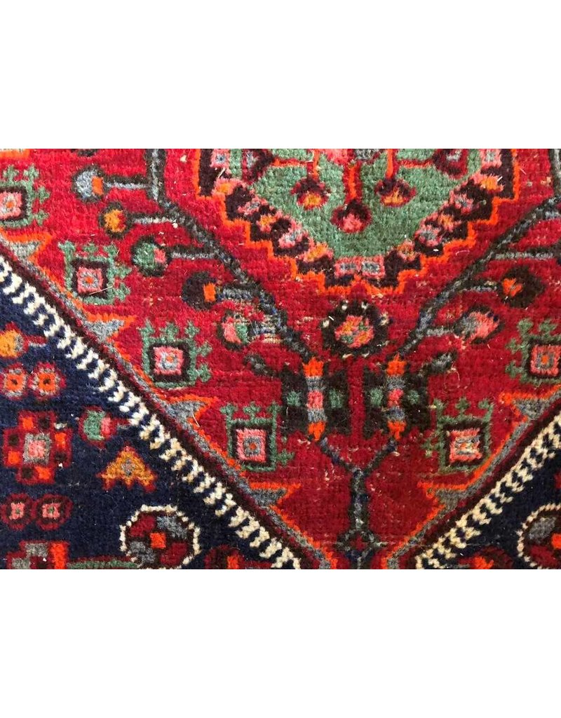 "Carpet - Persian, rich reds and blues, 7'5"" x 4'3"""