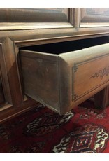 Chest - wooden, Asian, with lifting top and lock, two drawers