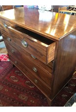 Chest - 19th century Georgian Mahogany chest, 2 short drawers over 3 long graduated drawers, original drawer locks and key, in excellent original condition