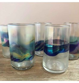 Signed art glass tumblers