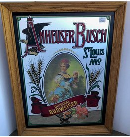 Budweiser beer advertising mirror