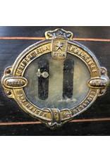 Bakery scale - wooden base, marble top, double trays, Maison Beranger, Lyon, late 1800s, Napoleon III
