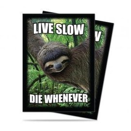 Ultra Pro Sloth: Live Slow,Die Whenever Standard Deck Protectors 50ct