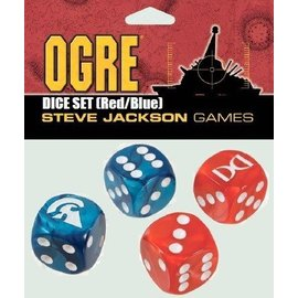 Steve Jackson Games Ogre: Red/Blue D6 Dice Set