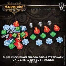 Privateer Press UNIVERSAL EFFECT TOKENS - BLIND, KNOCKDOWN, SHADOW BIND, STATIONARY