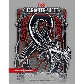 Wizards of the Coast Dungeons and Dragons: Character Sheets