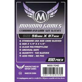 Mayday Games Mayday Sleeves: Standard USA Sleeves 56mm x 87mm Purple (100)