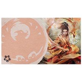 Fantasy Flight Legend of the Five Rings LCG: The Soul of Shiba Playmat (Phoenix Clan)