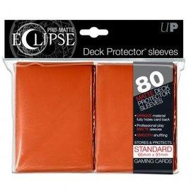 Ultra Pro 80ct Eclipse Pro-Matte Orange Standard Deck Protectors