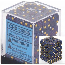 Chessex 36 12mm D6 Dice Block - Speckled - Twilight - CHX25966