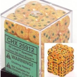 Chessex 36 12mm D6 Dice Block - Speckled - Lotus - CHX25912
