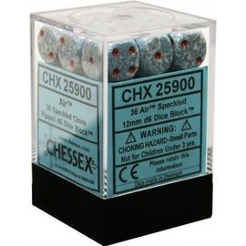 Chessex 36 12mm D6 Dice Block - Speckled - Air Elemental - CHX25900