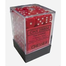 Chessex 36 12mm D6 Dice Block - Opaque - Red/White - CHX25804