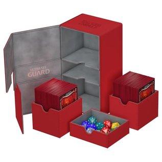Ultimate Guard Ultimate Guard - Twin Flip'n'Tray Deck Case 200+ Xenoskin - Red