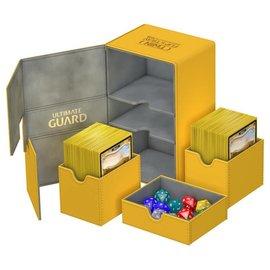 Ultimate Guard Ultimate Guard - Twin Flip'n'Tray Deck Case 160+ Xenoskin - Amber