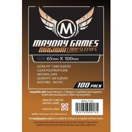"Mayday Games Mayday Sleeves: 100 ct Magnum Copper ""7 Wonders"" Card Sleeves - Clear"
