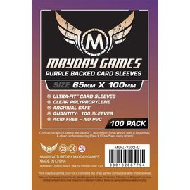 """Mayday Games Mayday Sleeves: 100 ct Magnum Copper """"7 Wonders"""" Card Sleeves - Purple"""