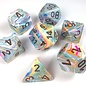 Chessex 7 Set Polyhedral Dice - Festive - Vibrant/Brown - CHX27441