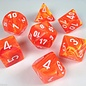Chessex 7 Set Polyhedral Dice - Vortex - Solar/White - CHX27423