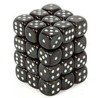 Chessex 36 12mm D6 Dice Block - Borealis - Smoke/Silver - CHX27828