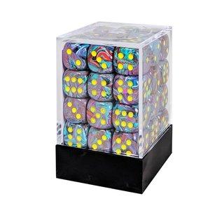Chessex 36 12mm D6 Dice Block - Festive - Mosaic/Yellow - CHX27850