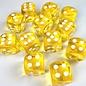 Chessex 12 16mm D6 Dice Block - Translucent - Yellow/White Translucent - CHX23602