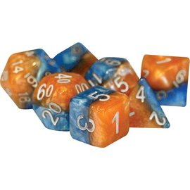 Gate Keeper Games Halfsies Dice 7 Sets - Fire & Dice