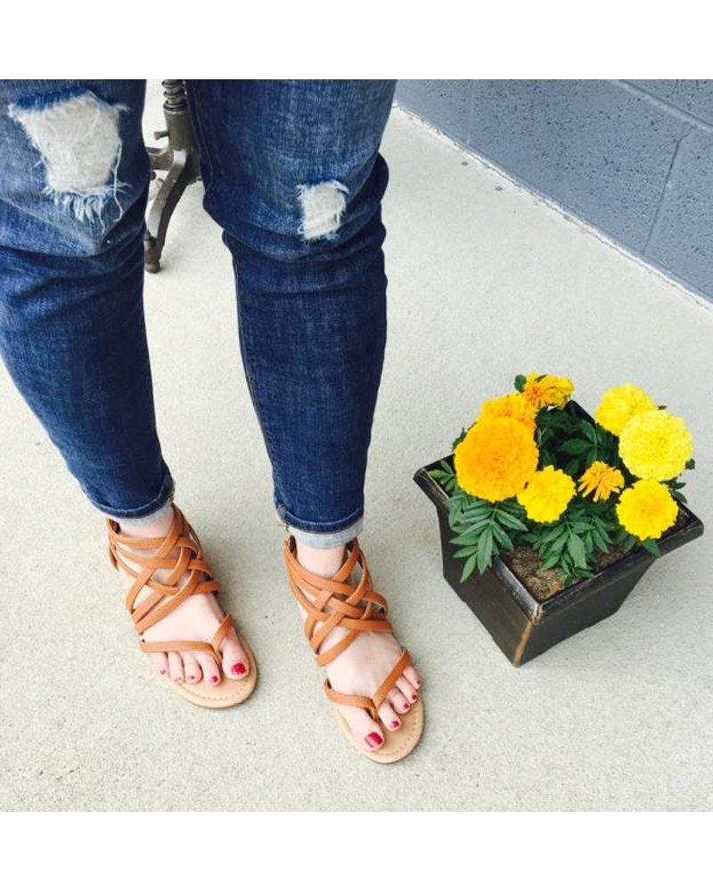 Bella Marie Brown Strappy Sandal