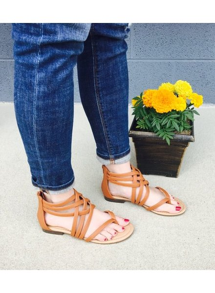 Bella Marie Brown Strappy Sandal