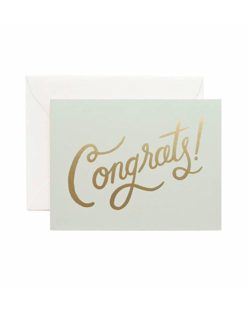 Congrat Mint and Foil Card
