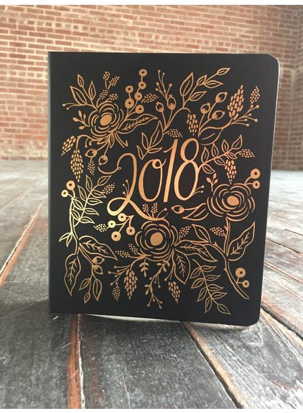 2018 Covered Floral Foil Planner PLM010