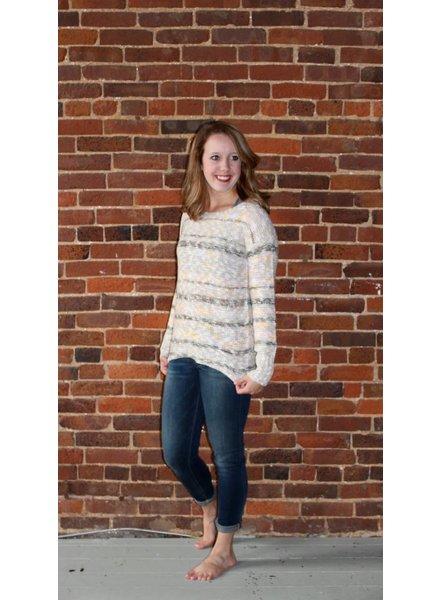 Multi Color Stripe Sweater L4701