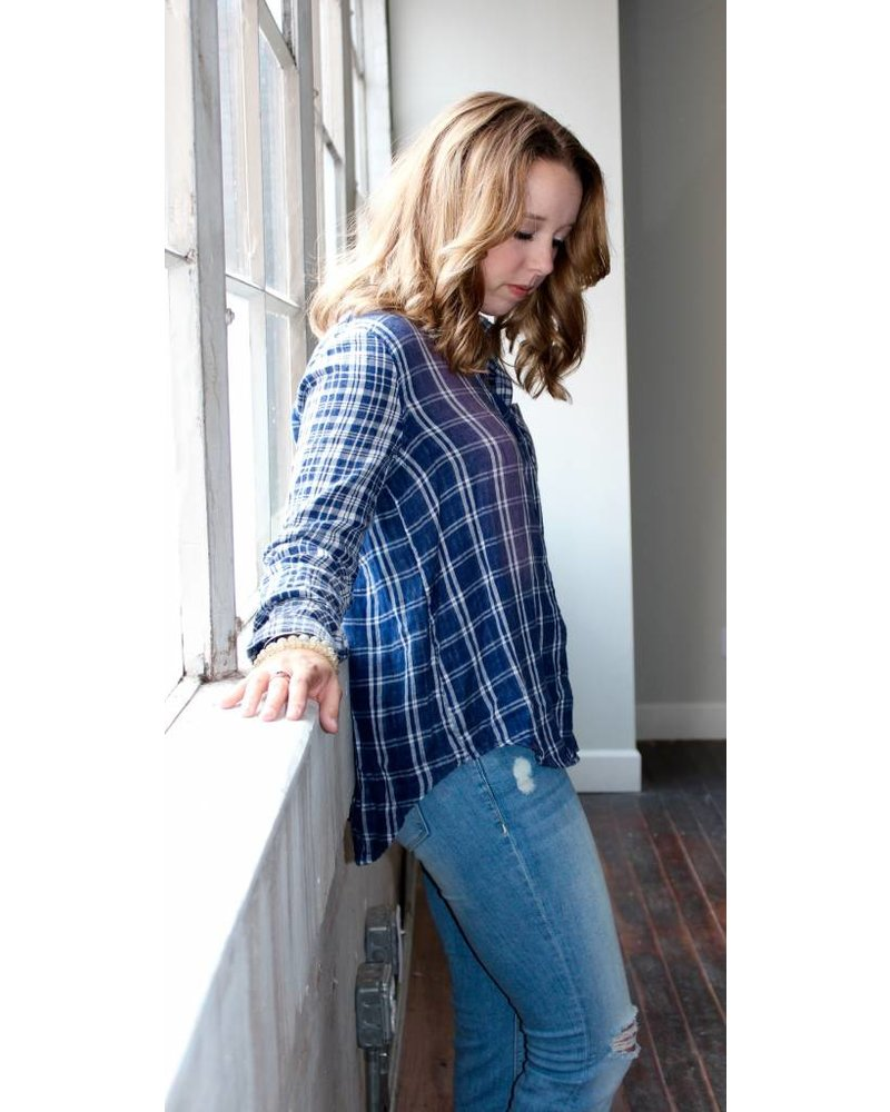 Faded Plaid Button Down G10833B