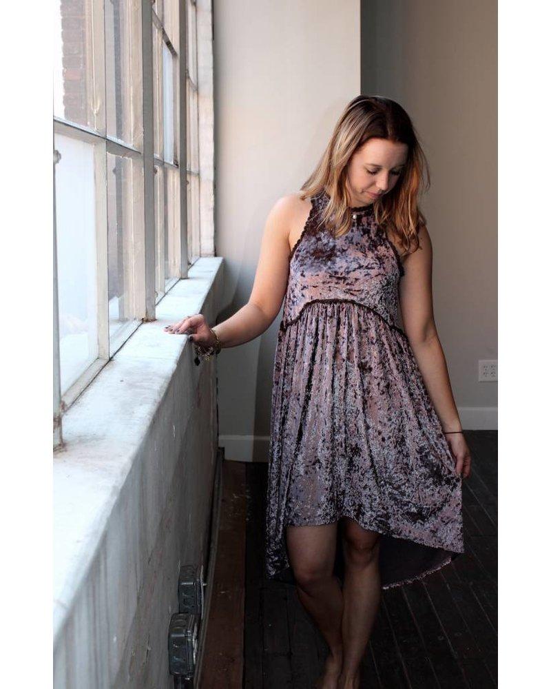 Mocha Velvet Dress RCD79A