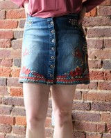 Embroidery Denim Skirt SP-S6728