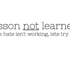 Lesson not learned.