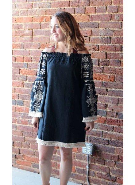 Velzera Black Embroidery Top