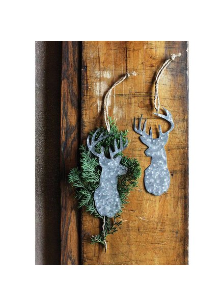 Tin Deer Head Ornament XC4815A