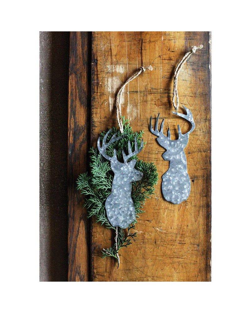Tin Deer Head Ornament XC4815A
