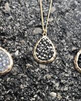 Teardrop Cluster Stone Necklace