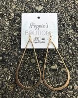 Gold Teardrop Hoop Earring