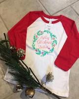 SCB Merry Chrismas Darlin' Kids Raglan
