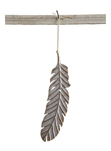Metal Feather Ornament XC7488