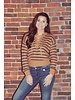 Striped Lace Up Sweater