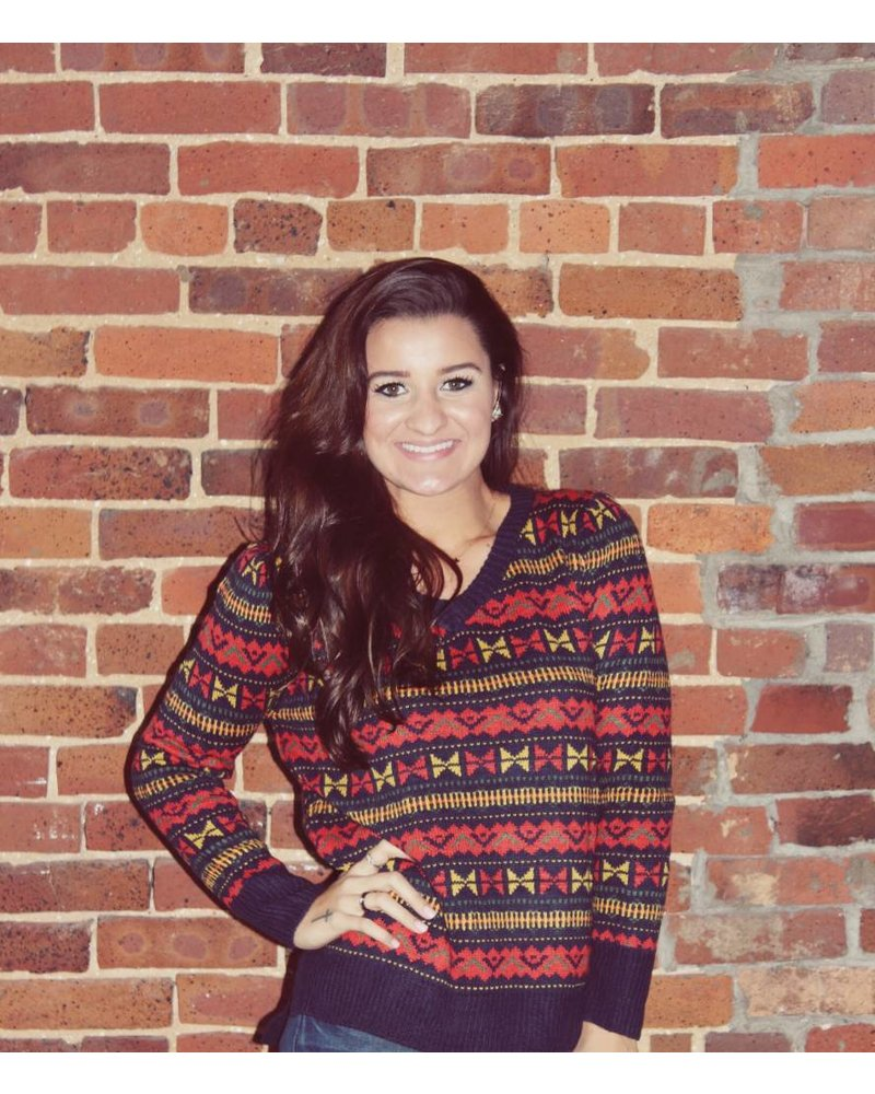 Multi-print Sweater