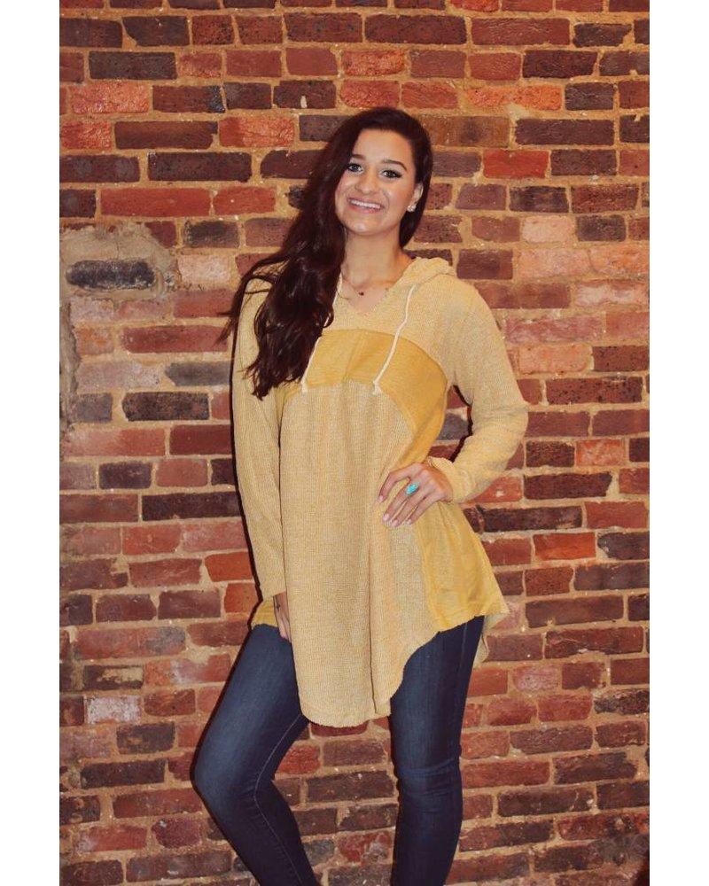 Mustard Tunic Sweater H5537